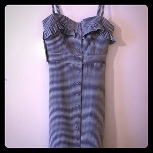 black and white gingham dress size M
